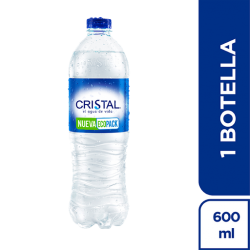 AGUA CRISTAL 600 ML PET
