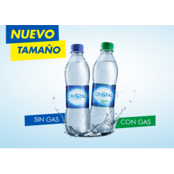 AGUA CRISTAL CON GAS 250 ML...